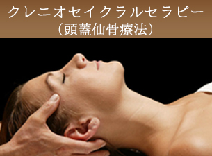 クレニオセイクラルセラピー(頭蓋仙骨療法)